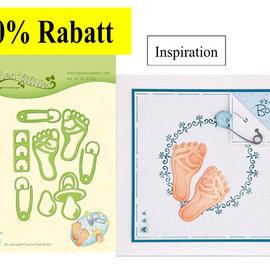 Leane Creatief - Lea'bilities und By Lene Stamping templates: baby motifs