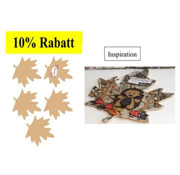 Holz, MDF, Pappe, Objekten zum Dekorieren MDF decoratieve bladeren