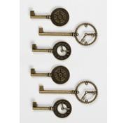 GRAPHIC 45 Chiavi eleganti orologi metallici squallidi