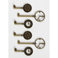 Shabby Chic Metal Clock Keys