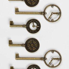 Vintage, Nostalgia und Shabby Shic Llaves del reloj de metal Shabby Chic