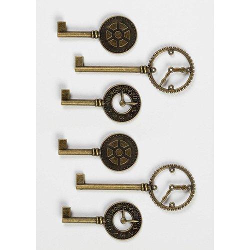 Vintage, Nostalgia und Shabby Shic Touches d'horloge Shabby Chic en métal