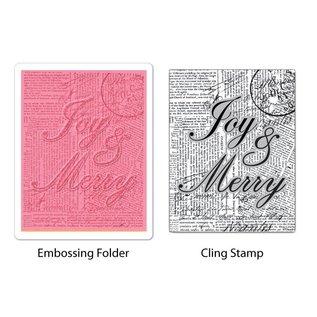 Sizzix Embossing mappen met bijpassende tekst stamp - slechts één beschikbaar!