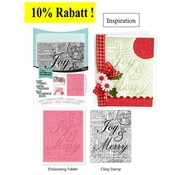 Sizzix Embossing folder with matching text stamp - only 1 in stock!