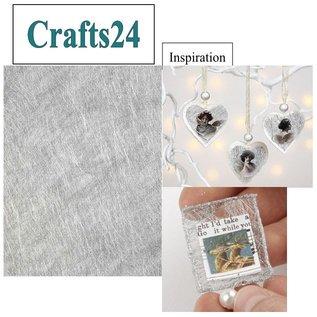 BASTELZUBEHÖR, WERKZEUG UND AUFBEWAHRUNG 1 leaf fiber paper, 21x30 cm, silver, 31g