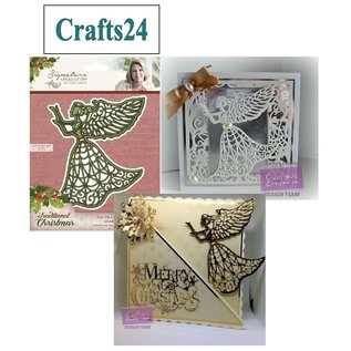 Crafter's Companion project Kerstmis! Ponstersjabloon: Angel
