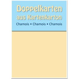KARTEN und Zubehör / Cards Dobbelt kort B6, pusseskinn, 250 g / m²