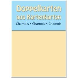 KARTEN und Zubehör / Cards Dual cartes B6, chamois, 250 g / m²
