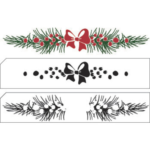 Nellie Snellen Transparent / Clear Stempel: Layered stamp with position Christmas Bordüre