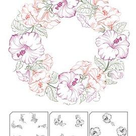 Nellie Snellen Gennemsigtig / Clear Stamp: lags stempel med kant position Wreath