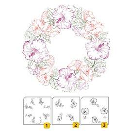 Nellie Snellen Transparent / Clear Stamp: Layered stempel med kantposisjon Wreath