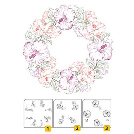 Nellie Snellen Transparent / Clear Stempel: Layered stamp with position edge Wreath