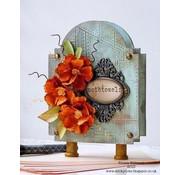 Embellishments / Verzierungen Rahmen und Verschlüsse, 6 Stück, antique - zurück vorrätig!