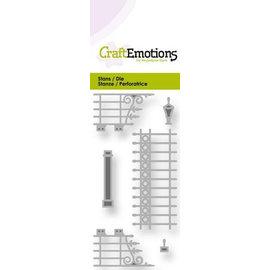 Craftemotions modello di punzonatura: cancelli nostalgici