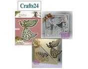 Cuna, ángel y alas de Navidad