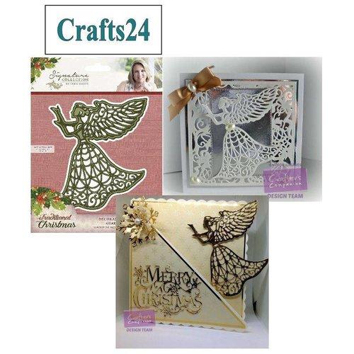 Wieg, engel van Kerstmis en vleugels