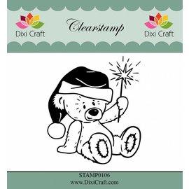 Stempel / Stamp: Transparent Gennemsigtige frimærker: jul med stjerne