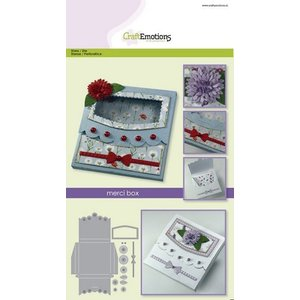 Crealies und CraftEmotions Stamping template: box with window
