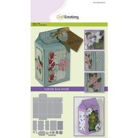 Crealies und CraftEmotions Stanzschablone: Geschenk Schachtel