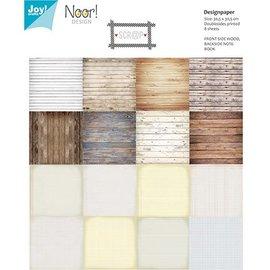 Joy!Crafts / Jeanine´s Art, Hobby Solutions Dies /  Bloque de papel para tarjetas y álbumes de recortes, 16 hojas, motivos de madera, 30,5 x 30,5 cm