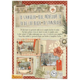 BASTELSETS / CRAFT KITS Stamping block A4, Anton Pick, Christmas