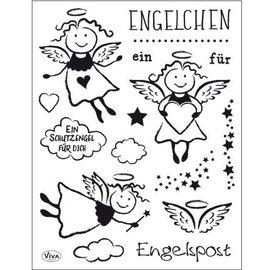 Stempel / Stamp: Transparent Sello transparente: Ángel
