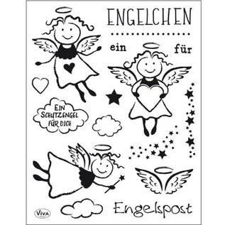 Stempel / Stamp: Transparent Transparant Stempel: Angel
