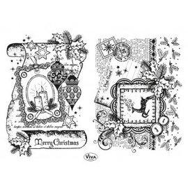 Stempel / Stamp: Transparent timbre transparent: Décor Scroll, Joyeux Noël