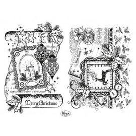 Stempel / Stamp: Transparent Transparent Stamp: Decor Scroll Scroll, Merry Christmas