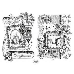 Stempel / Stamp: Transparent Transparant stempel: Decor Scroll, Merry Christmas