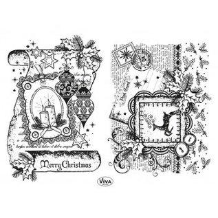 Stempel / Stamp: Transparent Transparent stempel: Decor Bla, Merry Christmas