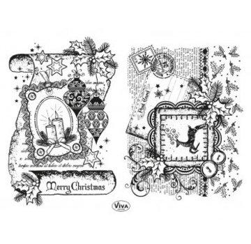 Stempel / Stamp: Transparent Transparent Stamp: Decor Scroll Scroll, Merry Christmas