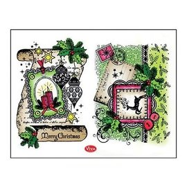 Stempel / Stamp: Transparent Transparant stempel: Decor Scroll, Merry Christmas