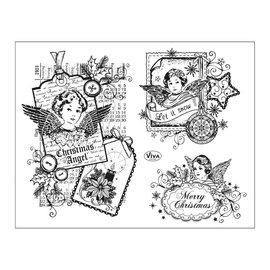 Stempel / Stamp: Transparent Gennemsigtige frimærker: jul engel