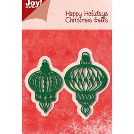 Joy!Crafts / Jeanine´s Art, Hobby Solutions Dies /  Corte y repujado: bolas de navidad
