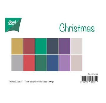 Bücher, Zeitschriften und CD / Magazines A4-papir sæt, matchende farver Uni - Christmas