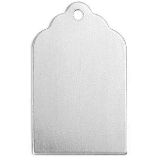 Embellishments / Verzierungen NIEUW bij ons! 10 metaaltegenhanger: Mini metaalplaat met een lus voor het ophangen - kan worden bewerkt met een embossing tool.