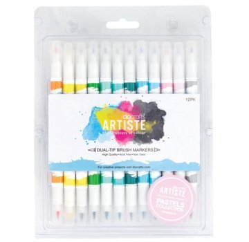 FARBE / STEMPELKISSEN Artiste permanent Dual Tip Marker kwast, verf Pastels Collection