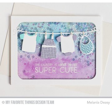 Spellbinders und Rayher Punching and embossing stencils, baby clothes
