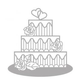 Spellbinders und Rayher Skæring og prægning stencils, Delicate kage, bryllupskage
