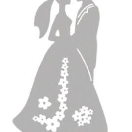Spellbinders und Rayher Corte y estampación plantillas, boda pareja