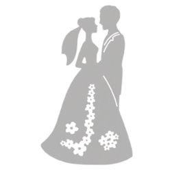 Spellbinders und Rayher Kutte og prege sjablonger, brudeparet