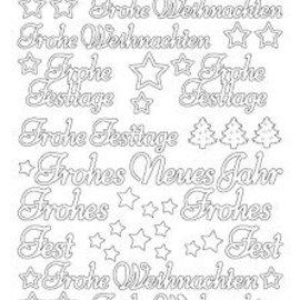 Sticker Adesivi, testo in tedesco: Happy New Year