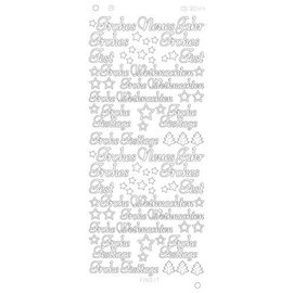 STICKER / AUTOCOLLANT Stickers, Duitse tekst: Gelukkig Nieuwjaar