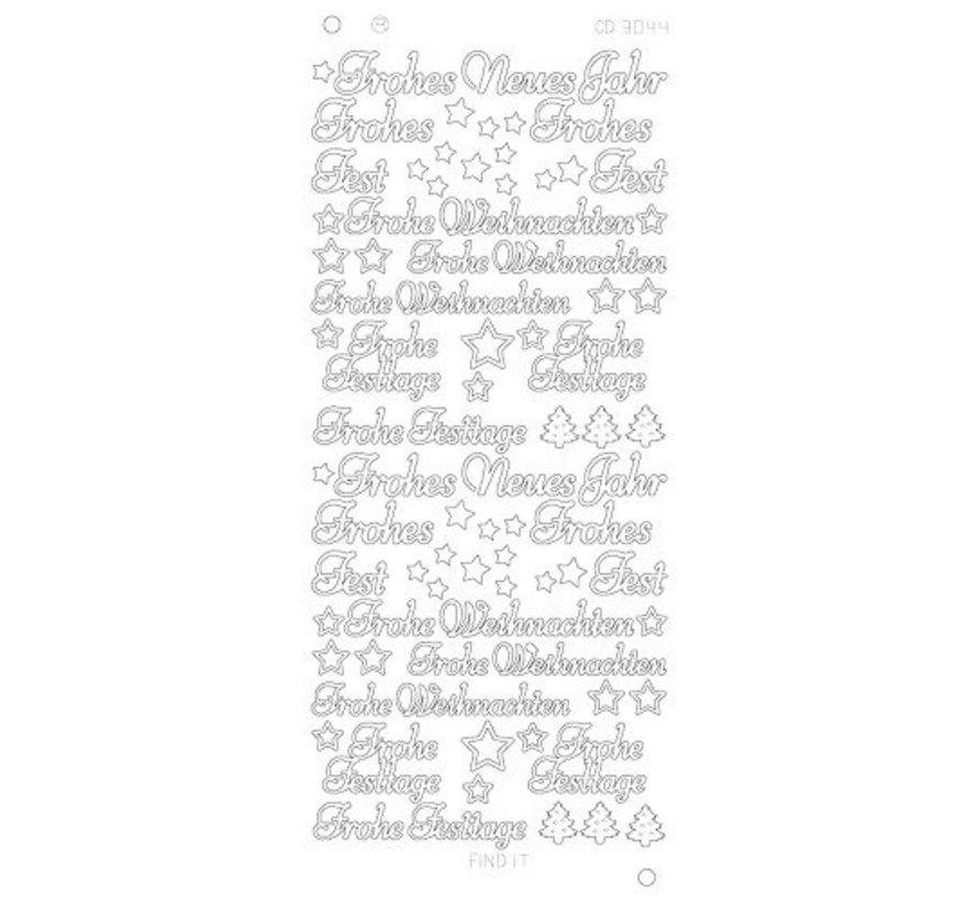 Sticker Stickers Duitse Tekst Gelukkig Nieuwjaar Hobby Crafts24
