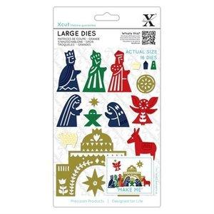 Docrafts / X-Cut Stanzschablone: Nativity figures
