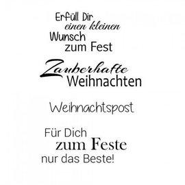 Stempel / Stamp: Transparent Stempel Weihnachten, Text mit Weihnachtliche Sprüchen in deutsch, transparent stempel,  Basteln für Weihnachten, Basteln mit Papier