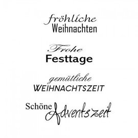 Stempel / Stamp: Transparent timbri trasparenti, testo in tedesco