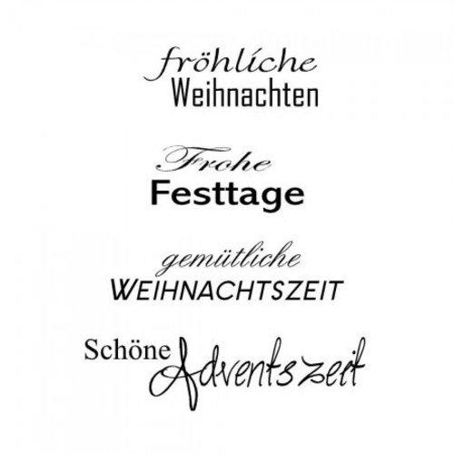 Stempel / Stamp: Transparent Stempel Weihnachten Text in deutsch, transparent stempel, Basteln für Weihnachten, Basteln mit Papier