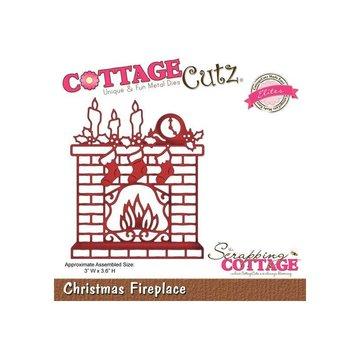 Cottage Cutz Snij en embossing Sjabloon: Christmas Fireplace